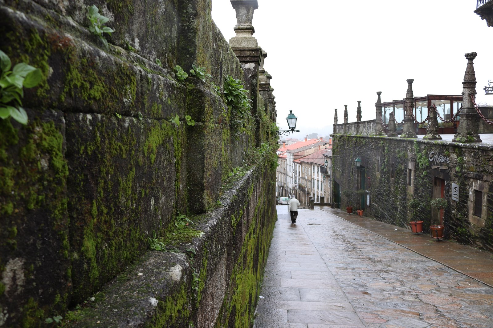 Gotas de lluvia de Santiago
